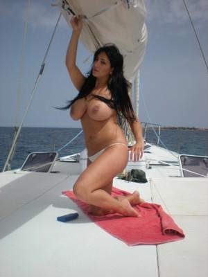 Marika Hiss on Boat