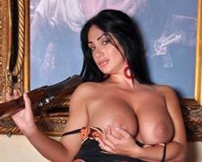 Marika fruscio breast italian tv